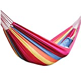 Ricco shop Canvas 200x80cm Hammock Tourism Camping Hunting Leisure Hammock Color Blue