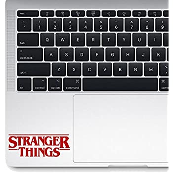Stranger Things Die-cut Vinyl Decal Sticker Macbook Laptop (2.9 inch, Red)