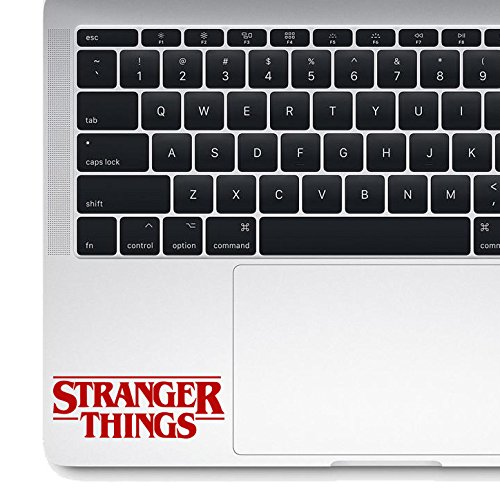 Stranger Things Die-cut Vinyl Decal Sticker Macbook Laptop (4.25 inch, Red)