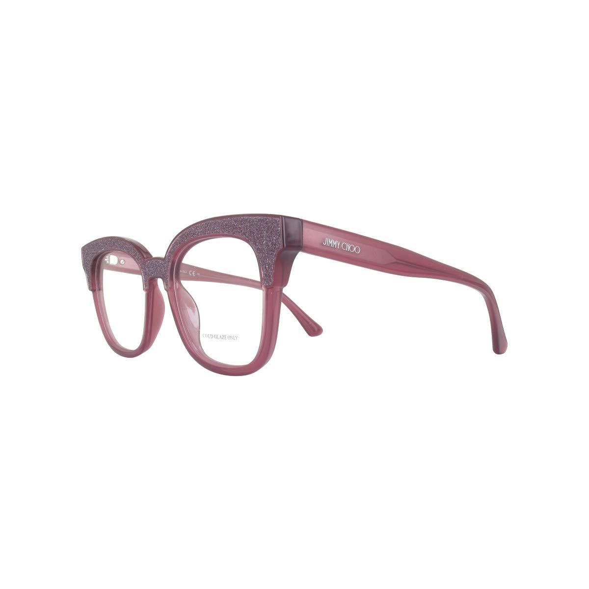 cb2f005b81e3 Eyeglasses Jimmy Choo Jc 176 018R Dark Gray Glittergy at Amazon Women s  Clothing store