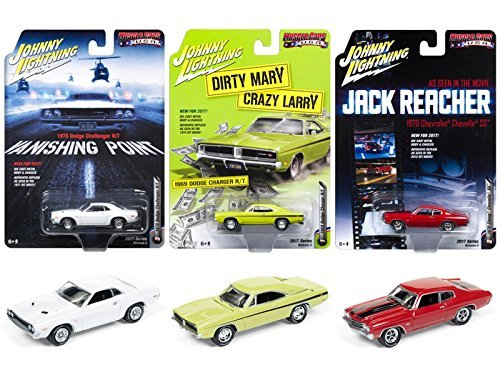 Muscle Cars USA 2017 Release 3 Set of 3 Cars 1/64 by Johnny Lightning JLMC005 from Johnny Lightning