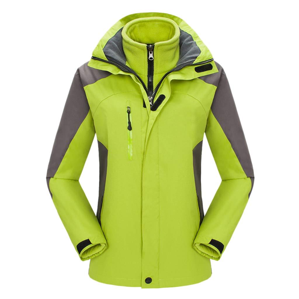 CFYTH Unisex wasserdichte Winddichte Jacke 3 in 1 Windbreaker Hooded Reisen Ski Sportswear Softshell atmungsaktiv warm gefütterte Jacken