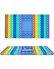 tawohi Push Pop Fidget, Push Pops 126 bolhas Fidget Sensory Toys Pop Its Funny Relief Stress Desktop Game Toy Soft Squeeze Toy Logical Raciocínio Treinamento para Adultos e Crianças