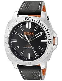 BOSS Orange Men's 1513295 Sao Paulo Analog Display Japanese Quartz Black Watch