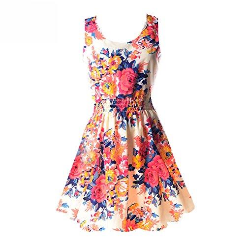 Floral Summer Tank Dress - 5