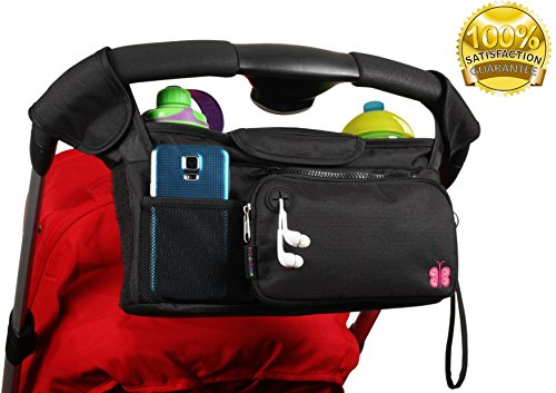 Clip Parasol (Baby Stroller Organizer Bag by Bebeclasse | Universal Fit | 3 Insulated)