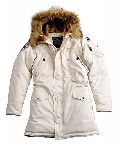 Alpha Industries Jacke Polar Jacket Wmn, Color:off white;Größe:S (Jacke Damen)