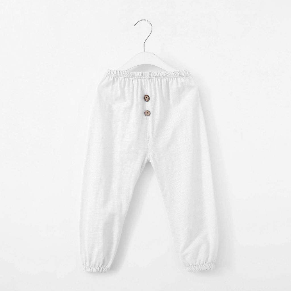 LijunMimo Baby Kinder M/ädchen Jungs Anti-Moskito Hose Beil/äufig Taste N/ähen Harem Hose Sport Hose Kinder Kleider