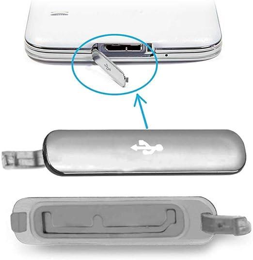 OcioDual Tapa Micro USB para Samsung Galaxy S5 G900F Cubierta Repuesto Conector Plata: Amazon.es: Electrónica