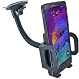 Qianqi Easy One Touch Windshield Universal Car Mount Holder for iPhone 6 6s Plus 5s Samsung Galaxy S7 S6 Edge S6 S5 S4 Note 5 4 HTC M9 M8 LG4 3 Nexus 6 5 fire phone and other Smartphones