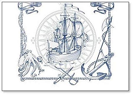 Fondo pirata. Imán para nevera, diseño de caravanas, estilo ...