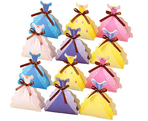 Disney Princess Party Favor Candy Box Large - Set of 12 - Large Treat Bags - Centerpiece - Disney Princess Party theme