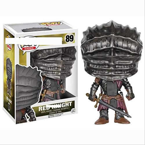 ZJAH Juego Funko Pop Que rodea a Dark Souls 3 Blood Source Cursed Red Knight Adorno de muneca 10cm 89 # Black Soul-Red Knight Figura Coleccionable, Multicolor