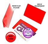 Oregon Lamination Hot Laminating Pouches IBM Card (pack of 25) 10 mil 2-5/16 x 3-1/4 Red/Clear