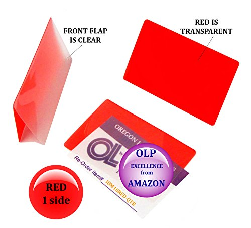 Oregon Lamination Hot Laminating Pouches IBM Card (pack of 25) 10 mil 2-5/16 x 3-1/4 Red/Clear by Oregon Lamination Premium