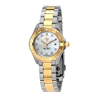 cebdec77698 Image Unavailable. Image not available for. Color  Tag Heuer Aquaracer  Diamond Ladies Watch ...
