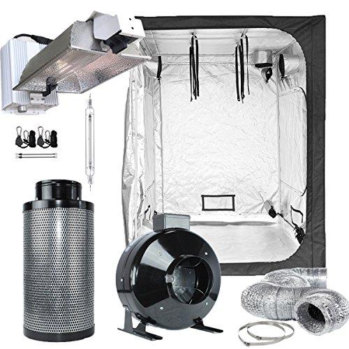 TopoLite Grow Tent Complete Kit Hydroponic Indoor Growing System DE 1000W Grow Light Kit + 60''x60''x80'' Grow Tent + 6'' Carbon Filter Combo (DE1000W Enclosed+60''x60''x80''+6''Filter Kit) by TopoLite
