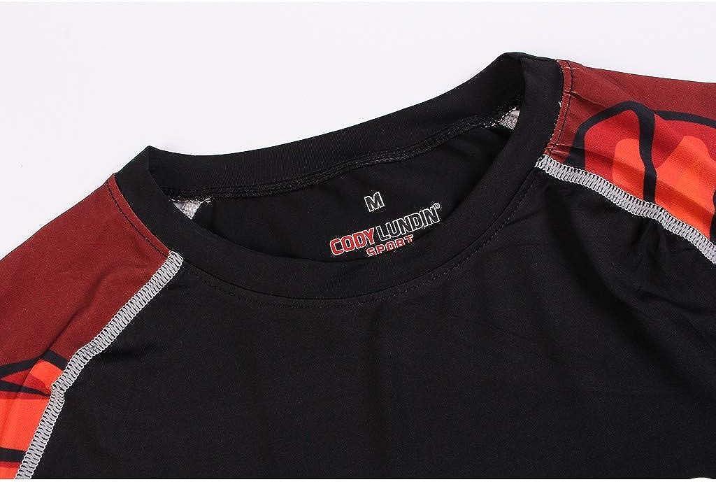 FRAUIT Magliette Uomo Compressione Maniche Lunghe Maglietta Ragazzo Manica Lunga Asciugatura Rapida Maglia Allenamento Bodybuilding Palestra Maglie Uomini da Sport per Corsa Running T Shirt