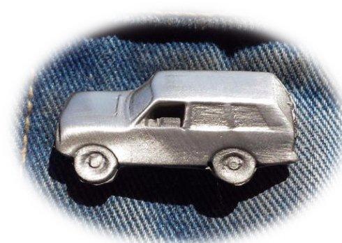RangeRover tipo 4 x 4 coche peltre Pin de solapa broche libre Reino Unido POST transporte 4 WD 4 x 4 Stoneys Badges