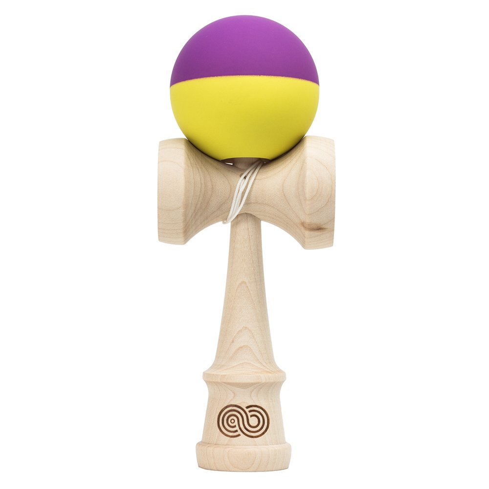 Kaizen 2.0 - Half Split - Maple - Purple and Yellow by Kendama USA (Image #1)