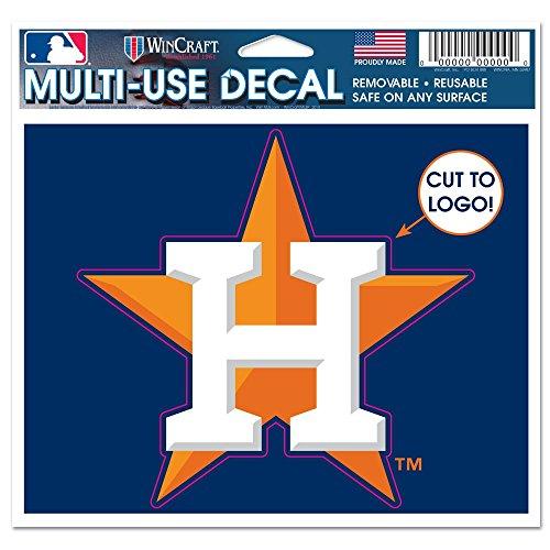 Mlb Houston Astros Decal (MLB Houston Astros 32430014 Multi-Use Decal, 4.5