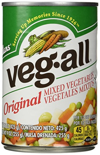 VEG ALL MIXED VEGETABLE, 15 OZ - (Pack of 6)