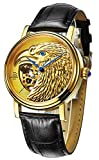 Best Binger Automatic Watches - Limited Edutuion Watch Halloween Eagle Pattern Watch Automatic Review