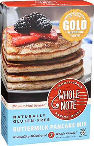 Whole Note 7-Whole-Grain, Buttermilk Pancake Mix, Naturally Gluten-Free (Pack of 3) ()