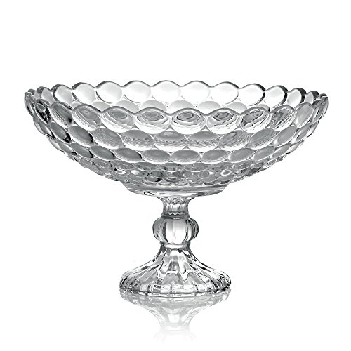 Fifth Avenue Crystal Arabella Compote Serving Bowls, 12-Inch