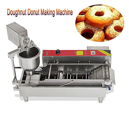 Stainless Steel Donut Maker,Vinmax Commercial Electric Automatic Doughnut Donut Making Machine Donut Maker Fryer 3 Mold