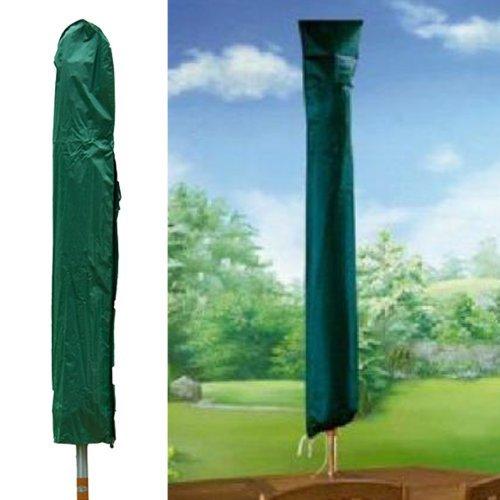 We Search You Save - Telo copriombrellone, robusto e resistente, utilizzabile anche con stendini a ombrello, lavabile in lavatrice, con cordoncino alla base, 150 cm, colore: Verde