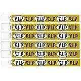 100 VIP Printed Tyvek Wristbands (Gold) 3/4 inch by Bingosupermarket