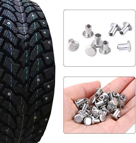 Bicycle,Shoe KIMISS Steel Tungsten Steel 100pcs 9mm//0.35 Wheel Tyre Stud Screws Snow Ice Dirt Mud Non-Slip Wheel Screw for Car Truck SUV ATV,Motorcycle