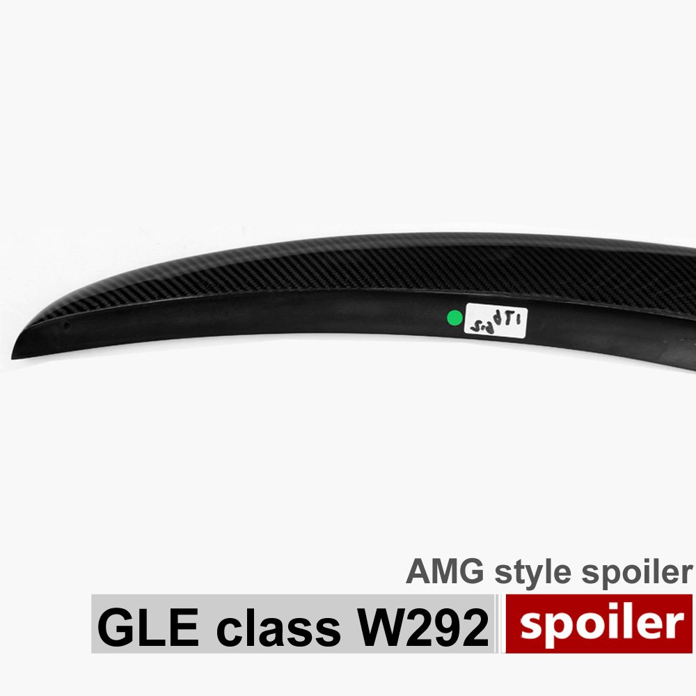 Trunk Boot Tail Lip Spoiler C292 Carbon Fiber Lip Rear Trunk Spoiler Wing for Mercedes GLE Class W292 C292 Coupe 2016