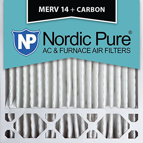20x20x5 Honeywell Replacement MERV 14 Plus Carbon AC Furnace Air Filters Qty 4 by Nordic Pure