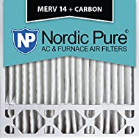 Nordic Pure 20x20x5 (4-3/8 Actual Depth) Honeywell Replacement MERV 14 Plus Carbon AC Furnace Air Filters, Box of 1