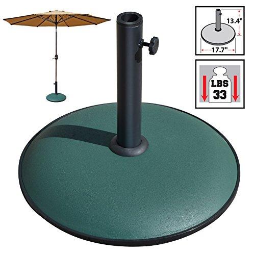 BenefitUSA Cement Umbrella Base Patio Umbrella Concrete Base Garden Deck Parasol Weight (Big Parasols Garden)