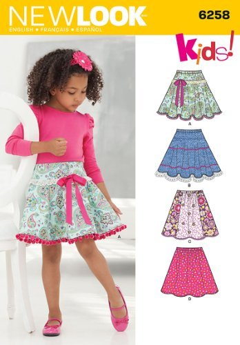 Simplicity Creative Patterns New Look 6258 Child's and Girls' Circle Skirts, A (3-4-5-6-7-8-10-12) by Simplicity Creative Inc. Patterns   B00MB8CHM8