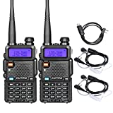 Zastone V8 Walkie Talkie 128 Channels 5W VHF/UHF Two-Way Radio 2 Pack