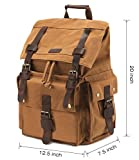 Kattee Men's Canvas Leather Hiking Travel