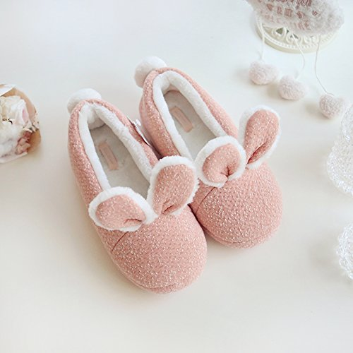 Bunny Treat Slippers HALLUCI Cozy Ear Trick Fleece Memory Women's Foam House Halloween f0qfvz