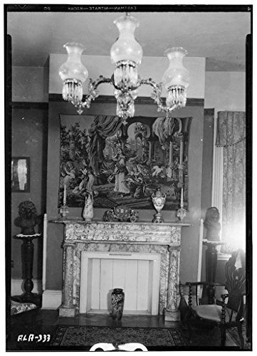 8 x 12 Photo 6. Historic American Buildings Survey Alex Bush, Photographer, February 6, 1935 View Fireplace, Living Room - Sweetwater, Sweetwater Avenue & Florence Boulevard, Florence 1933 27a by Vintography