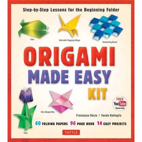 Origami Made Easy Kit: Step-by-Step Lessons for the Beginning Folder: Kit with Origami Book, 14 Projects, 60 Origami Pap