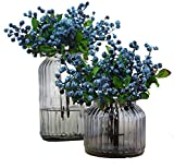 TBUY 10 Pack Fake Artificial Flowers California Berries Blueberry Fruit For Home Hotel Decor