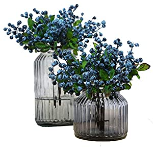 TBUY 10 Pack Fake Artificial Flowers California Berries Blueberry Fruit For Home Hotel Decor 80