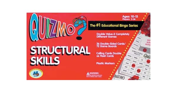 Learning Advantage 8206 QUIZMO Structural Skills Card