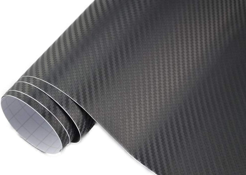 3 22 M 3d Carbon Folie Schwarz Meterware 200 X 152 Cm Klebefolie Car Wrapping Auto