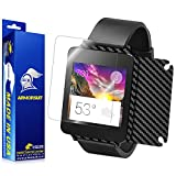 lg g watch accessories - ArmorSuit MilitaryShield - LG G Watch Black Carbon Fiber Skin Back Protector Film + Anti-Bubble HD Clear Screen Protector For LG G Watch
