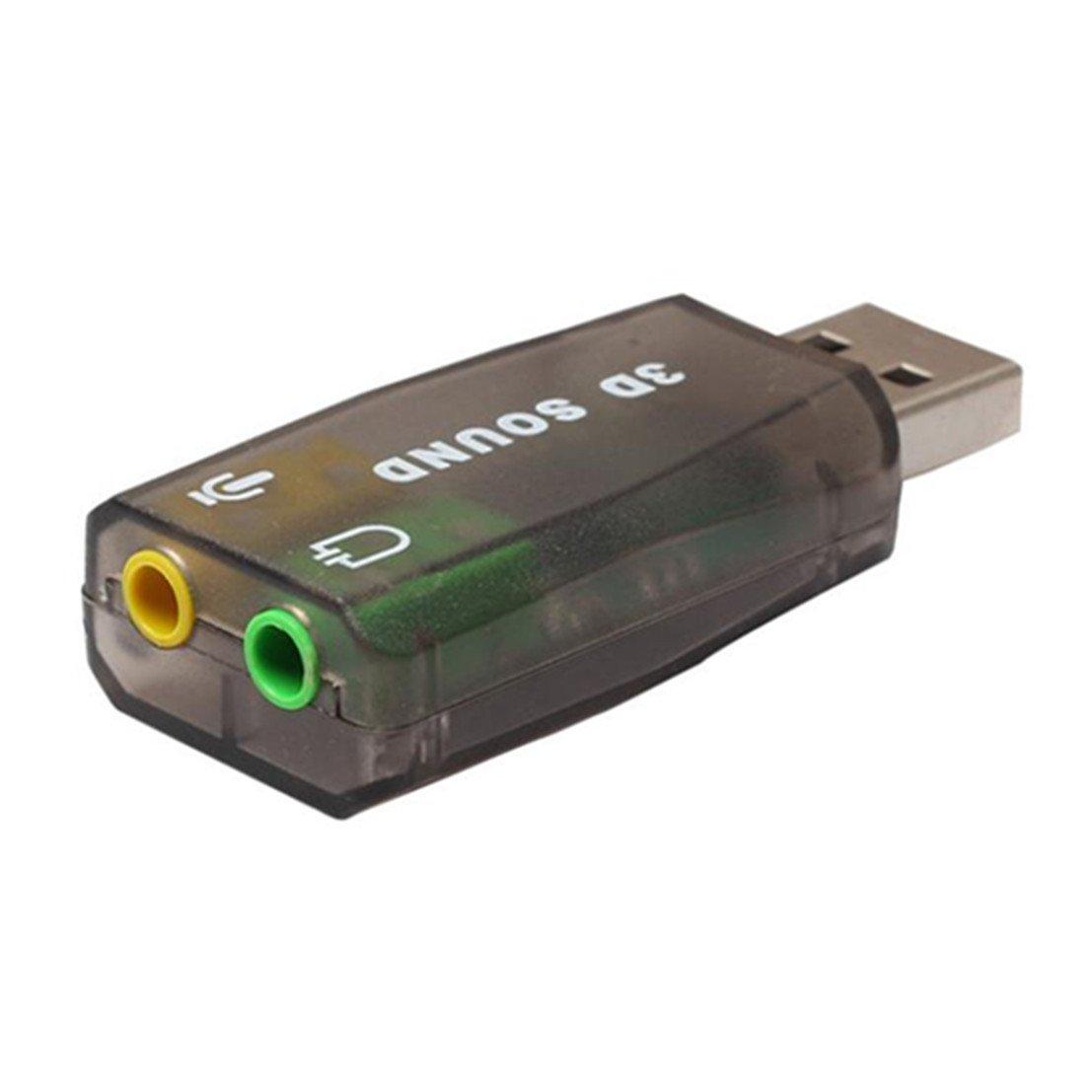 Bestpriceam 5.1 USB to 3.5mm mic Headphone Jack Stereo Headset 3D Sound Card Audio Adapter Black Bestpriceam-0017