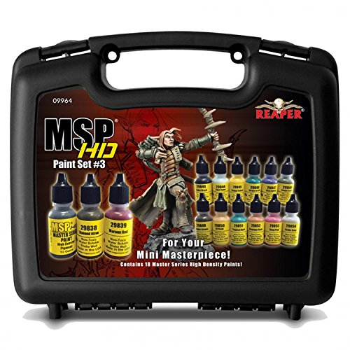 Master Series High Density Paint Set 3 Acrylic Master Series Hobby Paint Reaper Miniatures